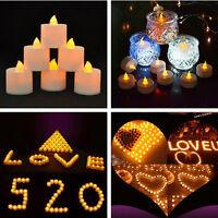 6 Flameless LED Tealight Flickering Tea Light Candles Christmas Wedding Battery