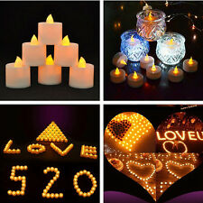 6 Flameless LED Tealight Flickering Tea Light Candles Christmas Wedding Battery