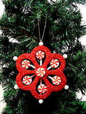 CHRISTMAS ORNAMENT CANDY PEPPERMINT CAND SWIRL DECORATION.5.1/4''CHRISTMAS DECOR