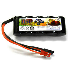 BSP RC Electric Model 6v 1200mah Ni-MH Rechargeable Battery Pack JST JR Stick x1