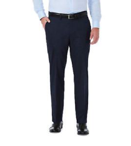 "Haggar Men's Premium Stretch Dress Pants w/3"" Flex Waistband 419 midnight 36x30"