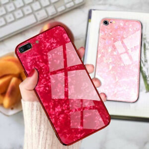 For iPhone 11 Pro MAX XR XS 7 8 Plus Case Tempered Glass Shockproof Marble Cover
