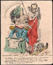 Paul Klenck. Napoléon III. typogravure vers 1870. Caricature Badinguet #2