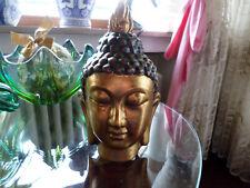 Buddha Kopf goldfarben Figur Skulptur ca. 20 cm hoch