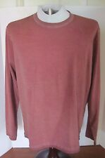 NWOT Cooper Jones Red Orange Mineral-Washed Long-Sleeve Crew, Medium