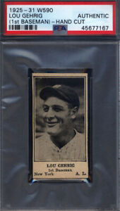 1925-1931 W590 Lou Gehrig Yankees PSA Authentic (Appears Near Mint)