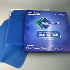36 Pcskit Blue Dental Rubber Dam Sheet Natural Latex Dura Dam 6 X 6 Inches