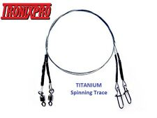 HTO (TronixPro) TITANIUM Spinning Trace, Wire Trace, Wire Leader - 20LB/25CM