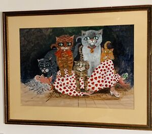 Cat Sitting - an amazing painting by Michael D  Ford (Winner Of 2 Oscars).