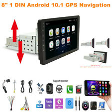 "8"" 1DIN Android 10.1 Car Stereo MP5 Multimedia Player Radio Video GPS Navigation"