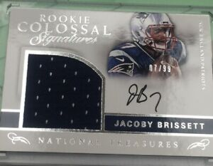 2016 National Treasures Jacoby Brissett Auto Jersey Rookie #7/99 Jersey #1/1