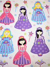 NEW Fabric Panel Fairy Tale Princess Dolls Quilting Cotton Material 90cmx112cm