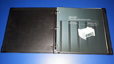 Halcro DM10 preamplifier - original lether cover manual
