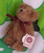 BOYD ROSS ANGELSTAR ORNAMENT BEAR WITH WINGS AND NECK RIBBON,ONE OWNER, EUC