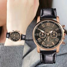 Fashion Women Girl Watches Leather Band Quartz Analog Wrist Watch UK