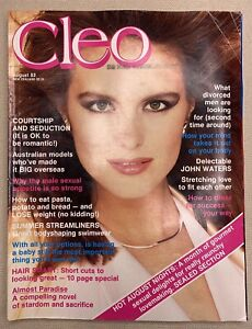 CLEO August 1984 Elle Macpherson, John Waters, Sealed Section, Mate of the Month