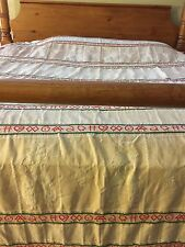 Authentic Vintage Usa Cowboy Bates Bedspread Queen Rare Custom Made Usa