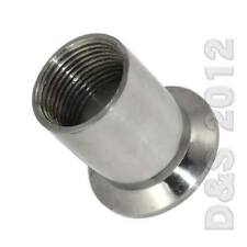 """3/4"""" SS316 DN20 Sanitary Female Threaded Ferrule Pipe Fitting For 1.5"""" Tri Clamp"""