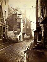 VINTAGE PHOTOGRAPH CITYSCAPE STREET COWGATE EDINBURGH POSTER ART PRINT BB12297B