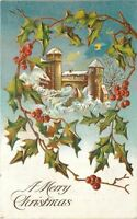 Christmas~Castle Tower~Village Gate~Holly Berry~Blue Night~Gold Leaf EMB~Germany