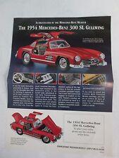 Franklin Mint Brochure 1954 Mercedes Benz 300 SL Gullwing