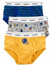 New Carter's 3 Pairs Underwear Boy Briefs NWT 2T 3T 4T 5T 6 7 8 14 Sports Stripe