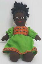 Vi 00004000 ntage Black Americana African American Hand Made Cloth Rag Doll Folk Art Ooak