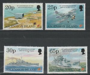 ASCENSION IS 8 MAY 1995 ANN OF THE END OF THE WAR COMMEMORATIVE SET OF ALL 4 MNH