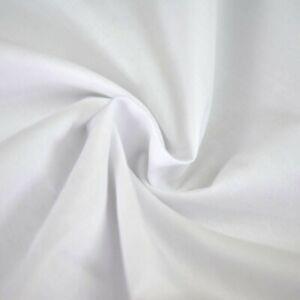 White Plain Polycotton Fabric 114 cm width  free p&p Poplin Fabric