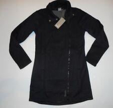 BENCH Urbanwear Black Funnel Neck TALLY Long JACKET Coat Womens Size LARGE NEW