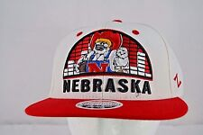 Nebraska Husker White/Red Baseball Cap Snapback