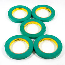 "Five Rolls: 3M SCOTCH 2480S, 1/2"" x 60YD  60 Day Ultimate Green Paint Tape"