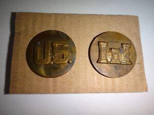 Vietnam War U.S. Enlisted Insignia + Army Corps Of ENGINEERS Metal Collar Badge