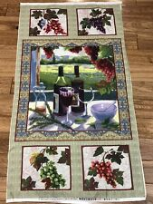 Beautiful WINE COUNTRY quilters cotton Fabric Panel 23 X 44