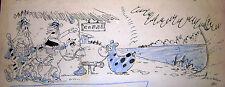 CUNDRI ORIGINAL ART SKETCH WESTERN GAUCHOS RICO TIPO ARGENTINA 1970's