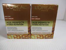 2 L'Oreal Age Perfect Hydra Nutrition Day Moisturizer 1.7oz Ea Exp 5/21+ Jl 7839