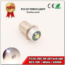 1x P13.5s PR2 PR3 6000K CREE 5W 3V 6V 12V LED Bulb Magnum Torch FLAHSLIGHT White