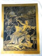 ANTIQUE LETTERPRESS PRINTING ENGRAVING ON METAL MEXICO 1857 ELEGANT LADY CATS