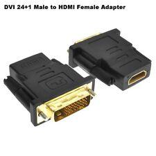 DVI-D 24+1 double lien mâle vers HDMI femelle convertisseur adaptateur plaqué or