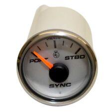 Faria Boat Engine Sync Gauge SYR901A | Rinker 2 1/8 Inch Silver