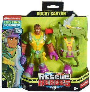 Rescue Heroes Rocky Canyon 6-Inch Figure with Accessories By Fisher Price NEW