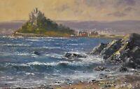 Richard Blowey Original Oil Painting - St Michael's Mount Cornwall (Cornish Art)