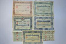 CARBURATEURS ET APPAREILS CLAUDEL PART + ACTIONS DE 100 FRANCS 1918 X 5 ACTIONS