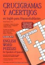 Crucigramas Y Acertijos En Inglés Para Hispanohablantes: English Word Puzzles