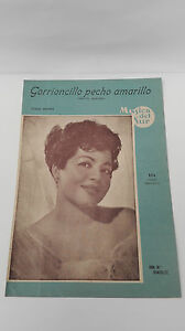 Old Sheet Music Sparrow Chest Yellow Tomas Mendez And Ana M Gonzalez 1954