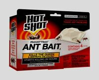 4pk HOT SHOT MaxAttrax Bait Station Ant Bait Killer in 24hrs & Queen Insect Pest
