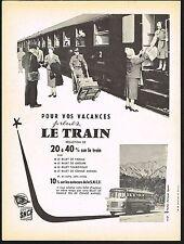 1957 Vintage France French Train Railroad Railway SNCF S.N.C.F Photo Print Ad
