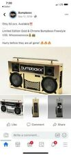 Gold bumpboxx boombox Freestyle V3S Good Condition Original Packing Included