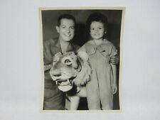 Photo Steiff Studio Tiger Lifesize all Id 1959 Tammy Marihugh Bob Cummings Nbc