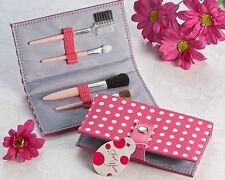 Pretty In Pink Polka Dot Makeup Brush Set Wedding Bridal Shower Favors
